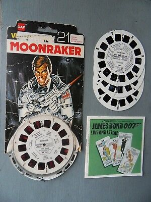 Viewmaster James Bond RARE Live and Let Die & Moonraker 42 3D photos from Films