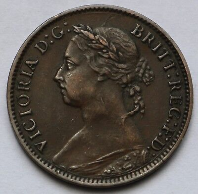 Great Britain Young Victoria Farthing 1888 Free Shipping