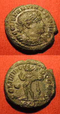 Constantine the Great AE3 SOLI INVICTO, 307-337 AD, 3.13g, 19mm, London mint.