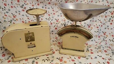 VINTAGE RETRO KITCHEN COOKERY WEIGHING SCALES - SALTER No 30C & KITWAY