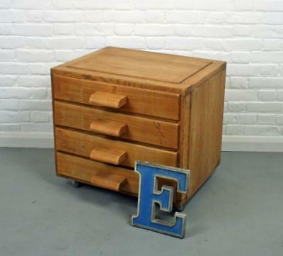 Vintage Oak Artists drawers Chest of Drawers Plan Chest on Wheels