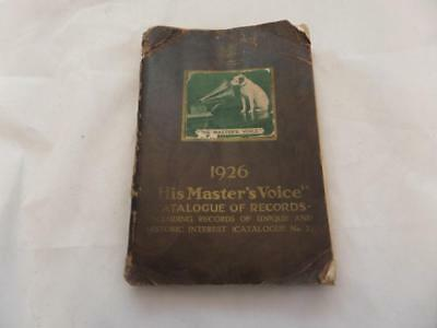 1926 His Masters Voice catalogue of records