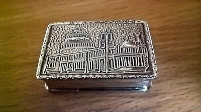 Vintage Sterling Silver St Pauls Cathedral Snuff/Pill Box