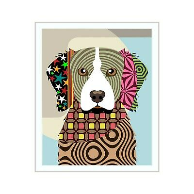 Brittany Spaniel Dog Pop Art Pet Animal Lover Print Puppy Canine Portrait Gift
