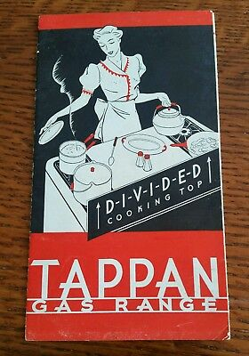 Vintage  Art Deco 1936 TAPPAN GAS RANGE Oven  Advertising Fold Out Brochure USA