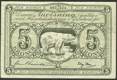 Greenland/Denmark - Pick18 - 5 Kroner in used condition RARE (rb)