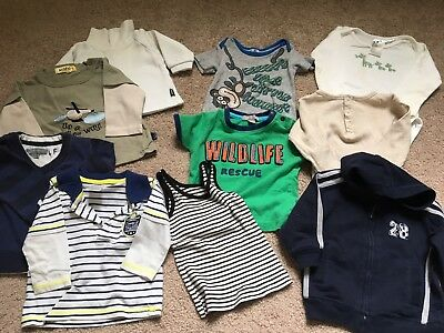 Baby Boy Clothes, 6-12 Months, 10 Pieces, Size 0