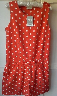 Next girls BNWT playsuit age 12