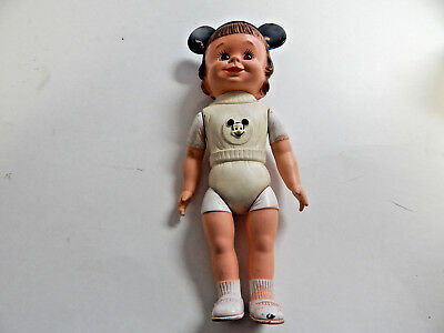 Mickey Mouse Club Mouseketeer Walt Disney 1950's Rubber Girl Doll Hard Find