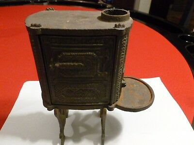 "Vintage ""hopewell Furnace"" Cast Iron Heating Stove Souvenir  ~7"""