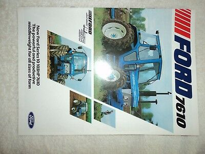Ford 7610 tractor sales brochure