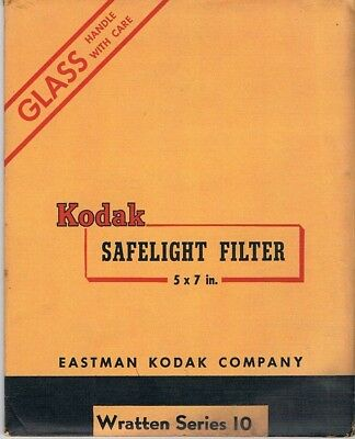"Kodak Safelight Filter 5"" x 7"" Wratten Series 10"