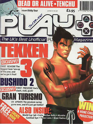 PLAY PLAYSTATION MAGAZINE issue 34 - 1998 - TEKKEN 3 cover