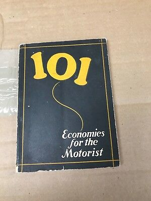 Vintage Original Veedol 1924 One Hundred One Economics For The Motorist