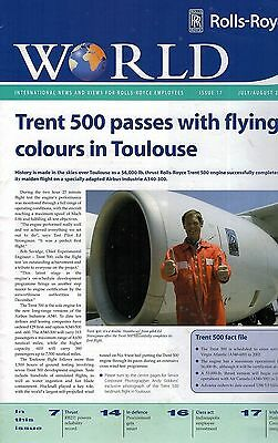 2000 JULY 1253F Rolls Royce World  Int News & Views For Rolls Royce Employees