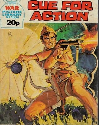 War Picture Library Comic No 1834 Cue For Action 1981 4514F