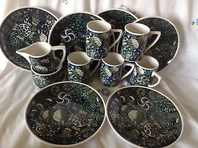 Vintage Portmeirion  Magic Garden plates, mugs, coffee tea set 60s 70s