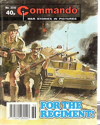 1991  No 2510 80948  Commando Comic War Stories In Pictures   FOR THE REGIMENT !