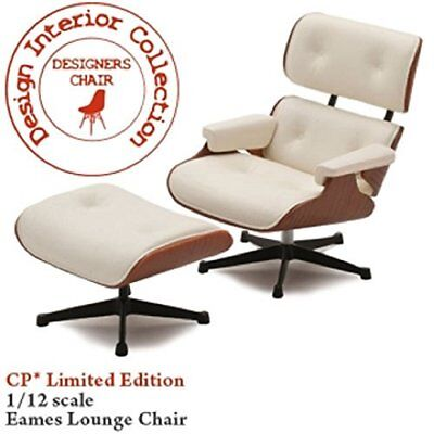 DESIGNERS CHAIR-CP01LT / No3 Eames lounge chair and ottoman 1/12 scale No.3