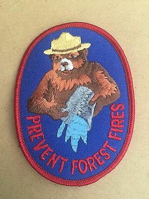 """Smokey the Bear Patch: Prevent Forest Fires (Smokey/Pail) 4""""x3"""" Oval (reduced!)"""