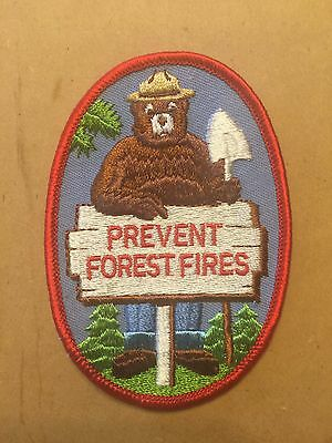 """Smokey the Bear Patch: Prevent Forest Fires (Smokey/Shovel) 4""""x3"""" Oval reduced!"""