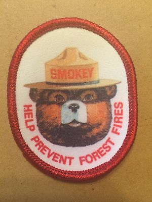 """Smokey the Bear Patch: Help Prevent Forest Fires 2.5"""" x 2"""" Oval (reduced!)"""