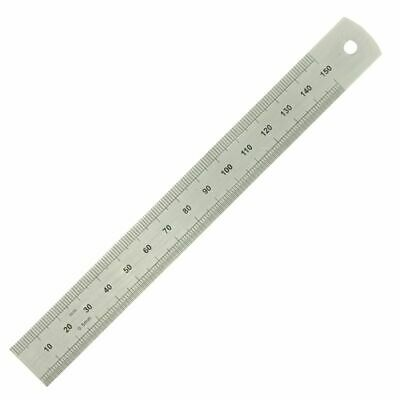 """150mm/ 6"""" Rule Moore and Wright Precision Steel Ruler 19mm Wide mm/ Inch ER106F"""