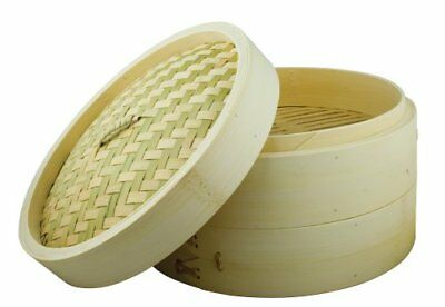 Dexam Bamboo Steamer Set With 2 layers and Lid 25cm
