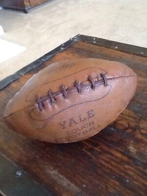 "Antique Vintage Very Early ""Touch"" Football Old All Leather 1920's STUFFED Circa"