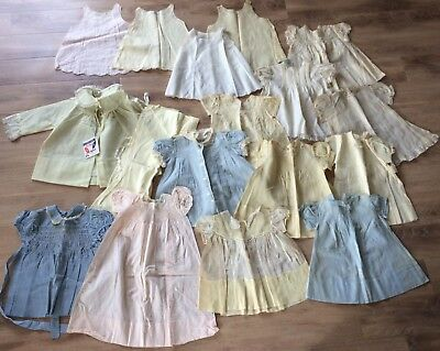 huge lot, 32 antique baby clothes + +++ Must see