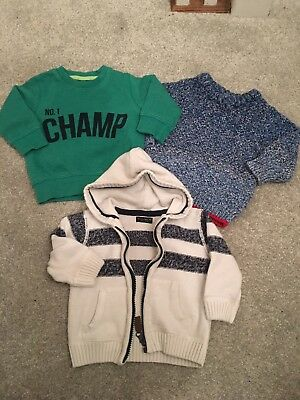 Next Baby Boys Jumpers X3 6-9 Months