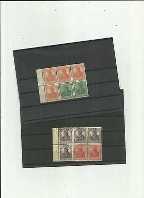 Germany 1918 Booklet panes SG 84i  and SG 102b mint cat £450 rare