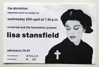 Lisa Stansfield Concert Ticket Stub - The Dominion London 1990