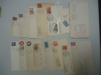 """Usa Stamp Cover Collection Of Vintage 'railway & Road Post Office Covers """" X 16"""