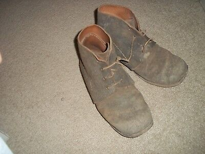 Used Civil War Reenactment Brogan Boots Sz 8 1/2