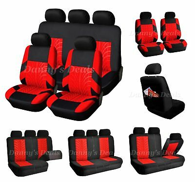 Black Leather Look Car Seat Covers Cover Set For Suzuki Swift 5DR 2005-2010