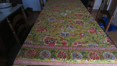 New World Market 100% Cotton Large Boho Floral Pattern Tablecloth India 60X90