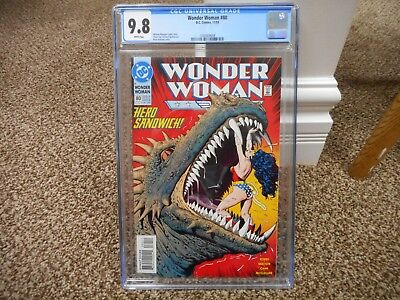 Wonder Woman 80 cgc 9.8 GREAT cover dinosaur DC 1993 white pages movie JLA MINT
