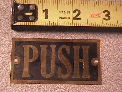 Vintage Small Brass Push Plate