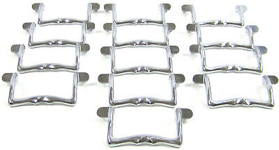 Lot of 13 Vintage Chrome Dresser Desk Kitchen Cabinet Drawer Pulls Handles