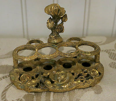Vintage Matson K508 Gold Ormolu Lipstick Holder With Roses