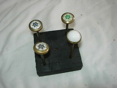 4 Sulfide Picture Nails or Curtain Tie Backs Vintage Antique Victorian