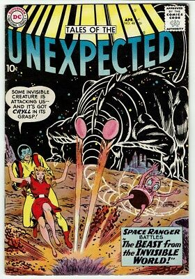 Tales of the Unexpected #48 (DC, 1960) VG-FN, Raw - A SPACE RANGER Adventure