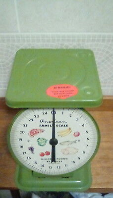 Antique Scale Kitchen Household AMERICAN FAMILY, AMERICAN CUTLERY Vintage 25 Lbs