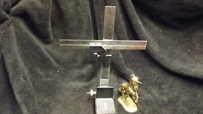 """Starrett No. 62 Ruler Stand & No.289-A Combo Sq. Attach., and 9&12"""" Rulers (112)"""
