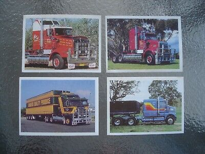 Weet Bix Kings of the Road Collector trading cards 1988 Kenworth trucks weetbix