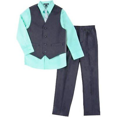 GEORGE Boy's 18 Mos VEST SET Shirt, Tie, Vest & Pants PINSTRIPE ~ New