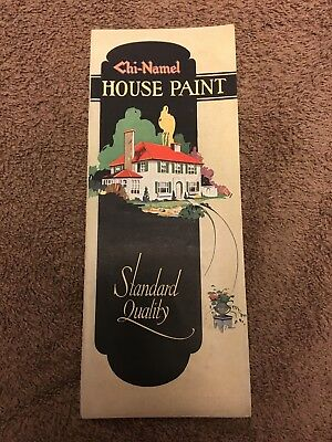 "Chi-Nael Paint Sample Brochure ""Nice"" 1940s House Paint"