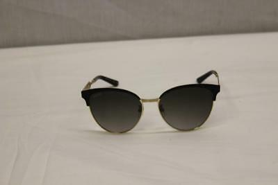 Gucci GG0074S 002 Black & Gold Cat Eye Sunglasses Made In Italy