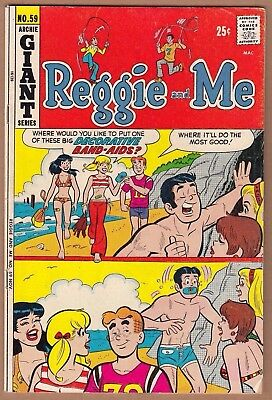 REGGIE & ME #59 *GIANT*FN+*  Solid! Glossy! (Archie-1972)   -combine ship-